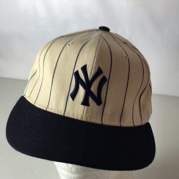 Vintage New York Yankees Hat Pinstripe Wool 7 3 8.  M 5b3283a8aaa5b8985f51893c 893f48554d4b
